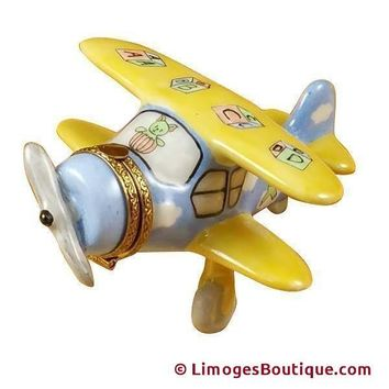 AIRPLANE BABY DECOR LIMOGES BOX