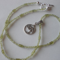 Green Peridot Tree of Life Necklace by PhreshThreadz on Etsy