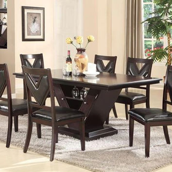 dining room table w built in wine rack from mc furniture best dining room table with wine rack contemporary