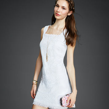 Lace Mix Graduation Dress