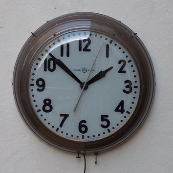 Large GE Vintage Industrial Wall Clock
