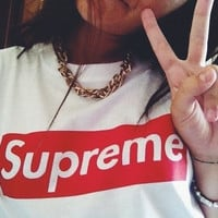 SUPREME HIGH QUALITY PRINT T-SHIRT TOP