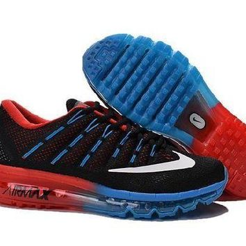 PEAPN Ready Stock Nike Air Max 2016 For Sale Red Blue Black Online Running Shoes Sport Running Shoes