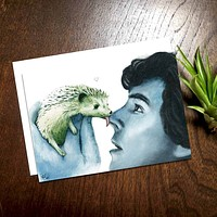 Detective Hedgehog Greeting Card
