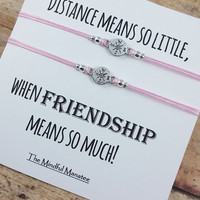 Compass Bracelet | Compass Friendship Bracelet | Long Distance Friendship | Bff Compass Bracelet | Gift for Her