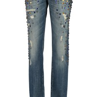 Embellished low-rise straight-leg jeans | DOLCE & GABBANA | Sale up to 70% off | THE OUTNET