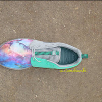 SOLD OUT- Custom Gray Nike Roshe Run- Bright Galaxy Space Nike Roshe Run Women/ MEN