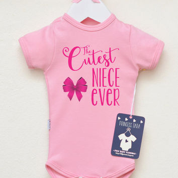 d0e8a4cba351 Cutest Niece Ever Baby Girl Bodysuit. Aunt Baby Clothes. Niece Gift From  Aunt And Uncl