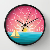 The end of the day Wall Clock by MirKat Design