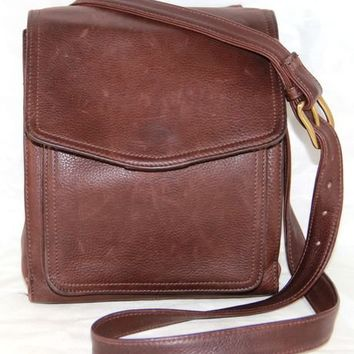 FOSSIL Messenger Crossbody Brown Leather Handbag Purse 75082