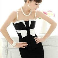 Black and White Bow Knot Dress from CocoCouture