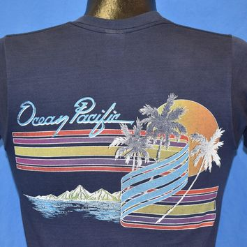 80s Ocean Pacific Sunset Palm Tree t-shirt Youth Extra Large