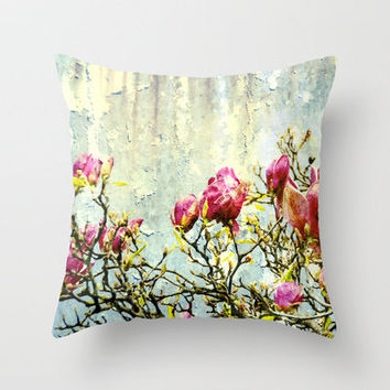 OPPOSITE LOVE - Rusted Magnolia Tree - (decrepit beauty) Throw Pillow by Textures&Moods by Belle13 | Society6