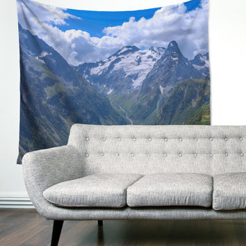 Mountain Top Snow View Hills Gypsy Unique Dorm Home Decor Wall Art Tapestry