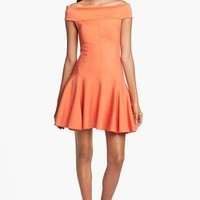 Halston Heritage Off Shoulder Ponte Knit Dress | Nordstrom