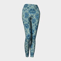 Modern Baroque Pattern Print Leggings Leggings