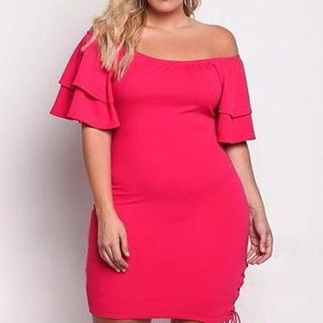 Ryon Summer Bodycon  Vintage Off Shoulder Plus Size  Dresses