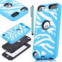 Pandamimi ULAK For Apple iPod Touch (Generation 5) Hybrid Silicon Bumper resistance Case W/ Hard Shell Inside Cover +Stylus