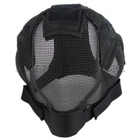 New Full face metal steel mesh protector helmet Military Tactical Mask combat for airsoft paintball wargame outdoor sports