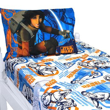 Star Wars Bed Sheet Set Rebels Fight Bedding Accessories