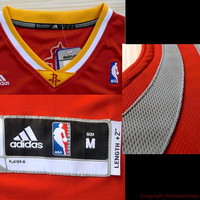 James Harden Houston Rockets 13 Revolution 30 Performance Red Yellow Jersey NBA Rare Sports Basketball All Stitched and Sewn Any Size S -XXL