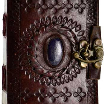 Stone Eye Leather Covered Journal with Latch