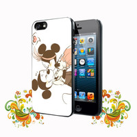 Mickey Mouse Minnie Mouse Kiss iPhone 5, 5s, 5C, 4, 4S , Samsung Galaxy S3, S4, S5 , iPod Touch 4 / S Case