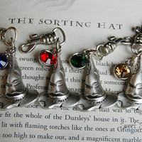 The Sorting Hat Accessory Clip, Custom Harry Potter Sorting Hat Zipper Purse Backpack Clips, Harry Potter Accessory, Harry Potter Gift