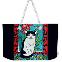 Pretty Me In Tuxedo Weekender Tote Bag for Sale by Dora Hathazi Mendes