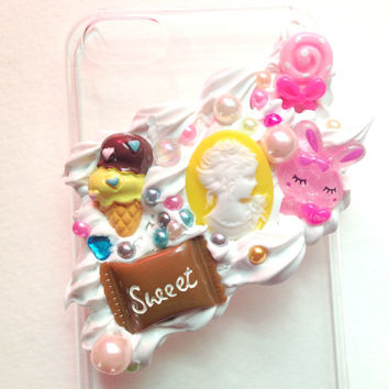 Kawaii Frosting Decoden Iphone5c Case//Sweets//Ice Cream//Glitter//Cabochons