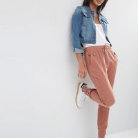 ASOS | ASOS Washed Casual Pants with Poppers at ASOS