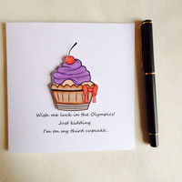 Funny Card, Birthday Card, Special Occasion Card, Cupcake Card