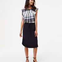 Two Tone Drawstring Skirt | LOFT
