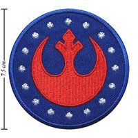 """STAR WARS Rebel Aliance Iron On Embroidered Patch 2.9""""/7.5cm"""