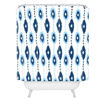 Allyson Johnson Authentic Blues 2 Shower Curtain