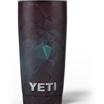 Deep Sea Teal Geometric Shapes Yeti Rambler Skin Kit