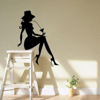 Hot Sexy Women Wall Stickers Home Decor Living Room Sitting Room Decoration Vinyl Removable Decorative Wall Decals Free Shipping