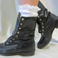 Miss Tori lace boot socks -The socks your cowboy and combat boots can't live without ,slouch socks peeking from the top of your boots
