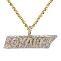 Men's Iced Out Two Tone 3D Loyalty for Life Custom Pendant