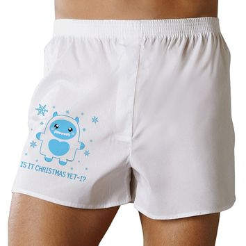 Is It Christmas Yet - Yeti Abominable Snowman Boxer Shorts