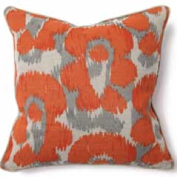 Orange Leopard Pillow