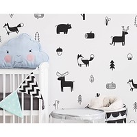 Woodland Nursery Wall Decals