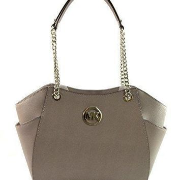 Michael Michael Kors Women's Jet Set Travel Saffiano Large Chain Shoulder Tote Style 35t5gtvt3l