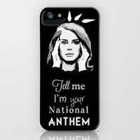 National Anthem - Lana Del Rey iPhone Case by Taylor Renae