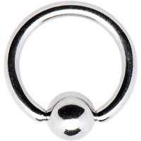 """14 Gauge STEEL BCR Captive Ring 3/8"""" 5mm 
