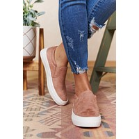 Pure Serenity Faux Suede Sneakers (Blush)