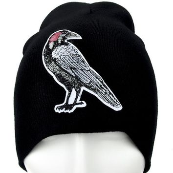 ac spbest Dead Raven Zombie Beanie Alternative Clothing Knit Cap