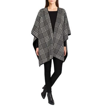 Ike Behar Ladies' Reversible Fashion Wrap-Houndstooth