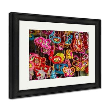 Framed Print, Colorful Lanterns At Chinatown Ho Chi Minh City Vietnam