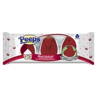 Peeps Red Velvet Flavored Marshmallow Chicks Limited Edition 3 ct